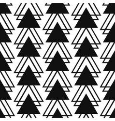 Simple triangle shape black and white seamless vector image vector image