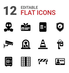 12 security icons vector