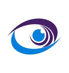 abstract eye graphic design icon logo vector image
