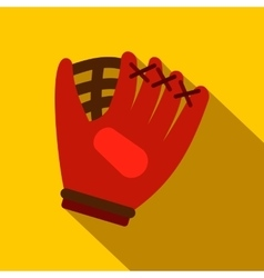 Baseball glove flat icon vector