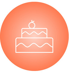Beautiful cake line icon vector