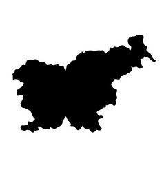 Black silhouette country borders map of slovenia vector