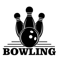 bowling logo simple style vector image