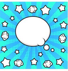 bright pop art frame vector image