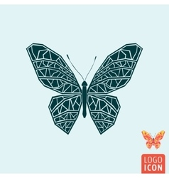 Butterfly icon isolated vector