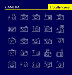 Camera hand drawn icon for web print and mobile vector