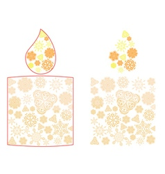Candle made of snowflakes vector