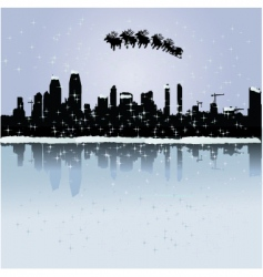 Christmas in the city vector