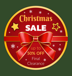 Christmas sale up to 50 percent off clearance vector