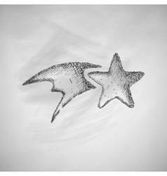Christmas star icon vector