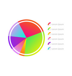 circle diagram chart icon vector image
