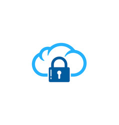 cloud security logo icon design vector image
