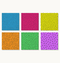 collection colorful vibrant seamless vector image