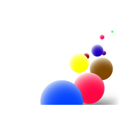 Color balls vector