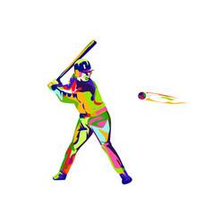 colorful baseball vector image