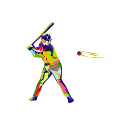colorfull baseball vector image