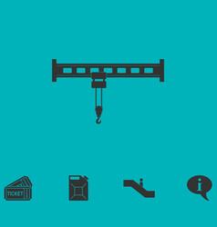 Crane icon flat vector