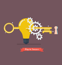 Creative idea key to success vector