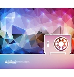 Creative safe box Art vector image