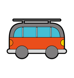 cute orange car cartoon vector image