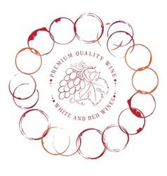 Design label for wine vector