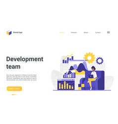 development team landing page web design vector image