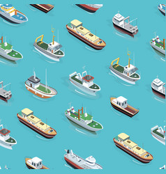 Different boats pattern vector