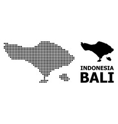 Dotted pattern map bali island vector