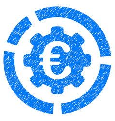 Euro diagram configuration grunge icon vector
