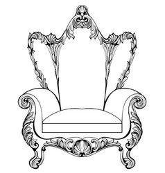 Exquisite fabulous imperial baroque armchair vector