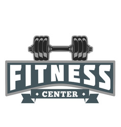 Fitness power center image vector