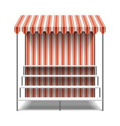 Flower market stall vector image