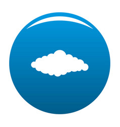 Fluffy cloud icon blue vector