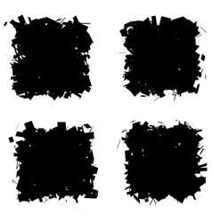 Fragmented black silhouette collection frames vector
