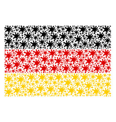germany flag collage of blot items vector image