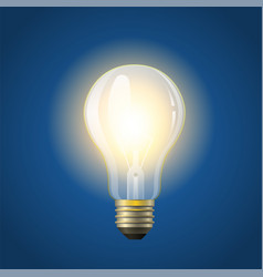 Glowing incandescent bulb - modern vector