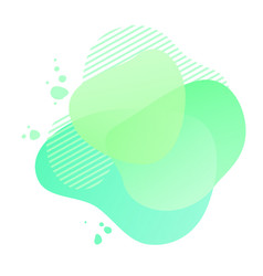 Green gradient shapes with geometric lines vector