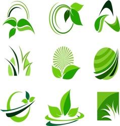 Green Leafs Design vector