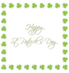 greeting card - Saint Patricks Day vector image