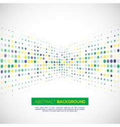 halftone background in Brazil concept vector image