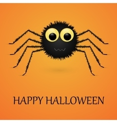 Happy Halloween orange background with spider vector