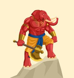 Indian god hindu ganesh vector