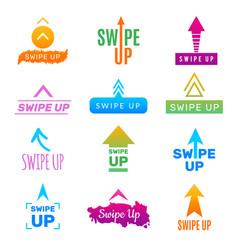 insta swipe up ui app design template screen vector image