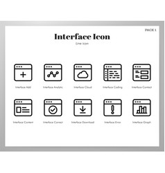 interface icons line pack vector image