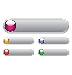 internet glossy buttons vector image