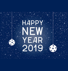 lettering happy new year blue on background vector image