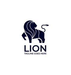 lion silhouette design concept template vector image