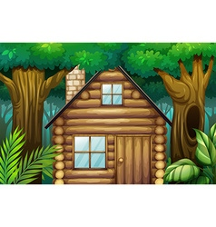 Little hut in the woods vector