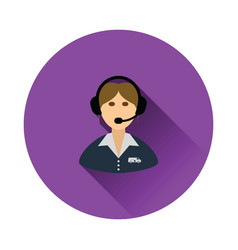 Logistic dispatcher consultant icon vector