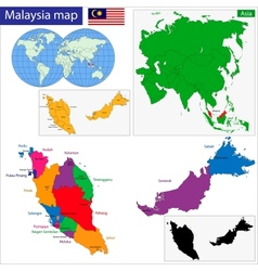 Map of Malaysia vector